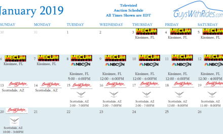 January 2019 Televised Auction Calendar