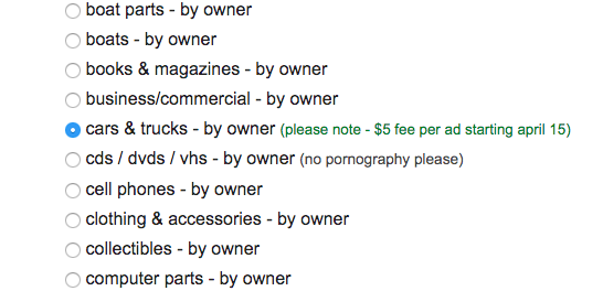 Why Craigslist's Decision to Start Charging $5 Starting