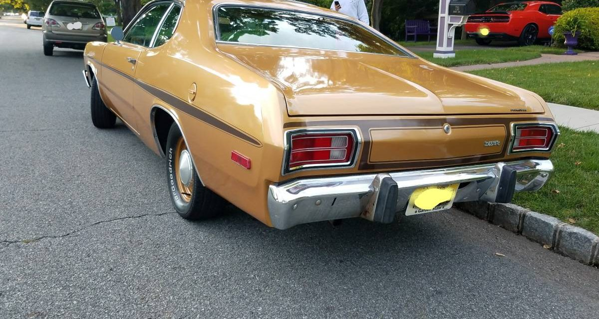 1973 Plymouth Gold Duster Six Cylinder – $14,000