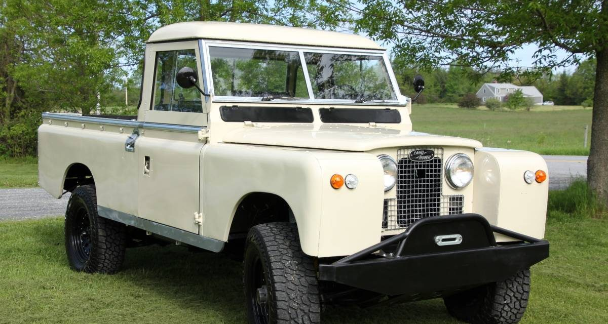 1967 Land Rover Series 2A Pickup One Owner Restored – $43,500