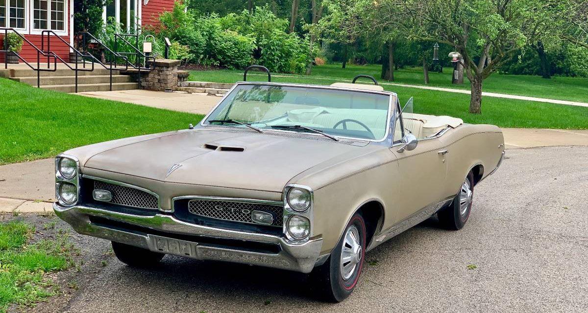 1967 Pontiac GTO Convertible 58K Mile Survivor – $32,500 Firm