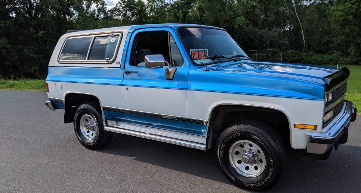1991 Chevrolet Blazer Silverado 84K Mile Survivor- $16,500