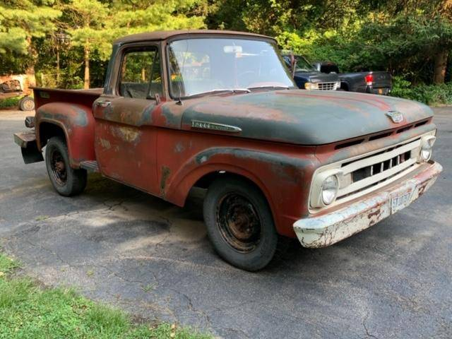 1962 Ford F-100 Flareside Y-Block 4-Speed Project – $5,500