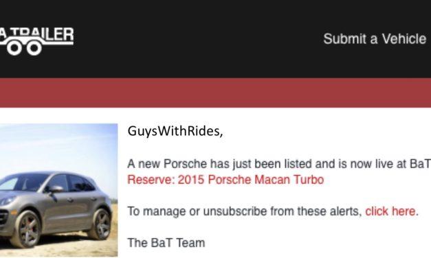 Really Bring A Trailer?  A 2015 Porsche Macan Turbo?