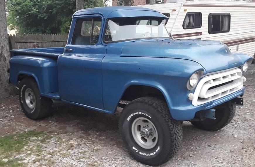 1957 Chevrolet 3100 Stepside Napco 4×4 Project – $13,000