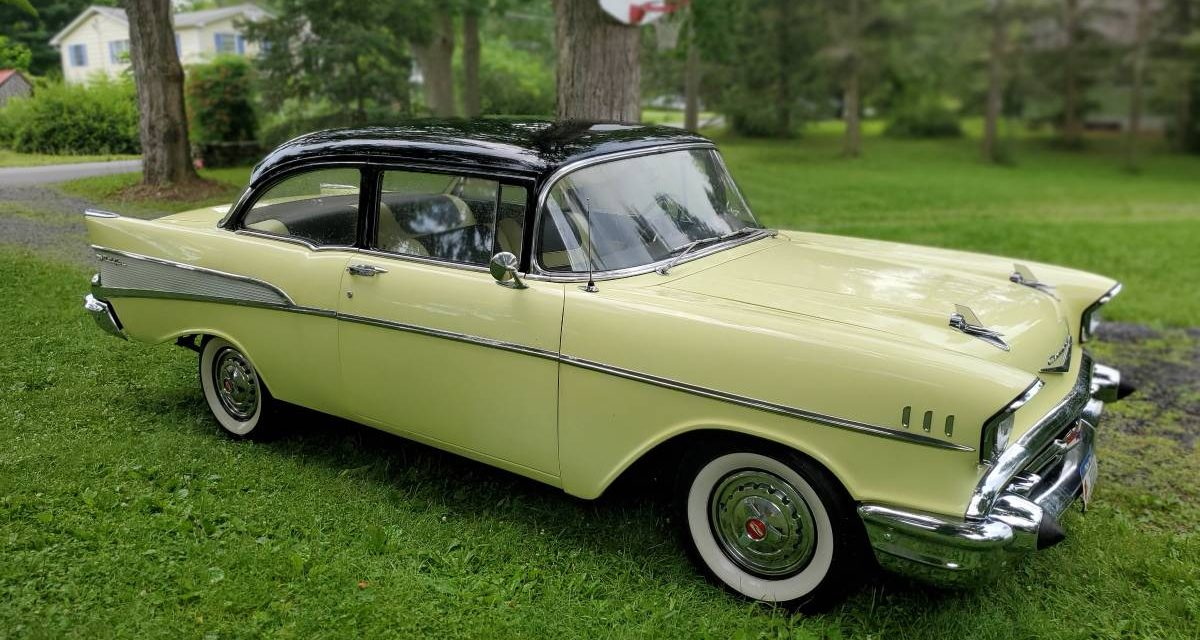 1957 Chevrolet 210 Two Door Post Coupe – $22,000