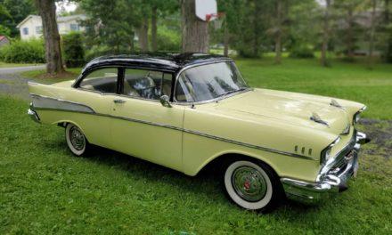 1957 Chevrolet 210 Two Door Post Coupe – $22,000