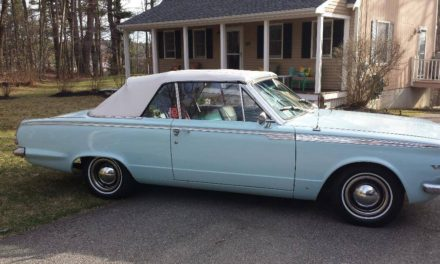 1965 Plymouth Valiant V200 V8 Convertible – $5,595