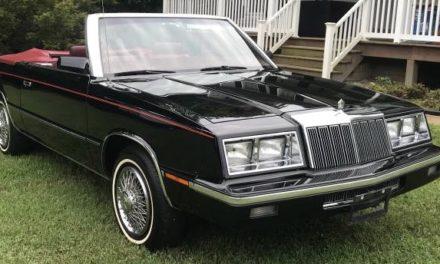 1985 Chrysler LeBaron Convertible – Sold!