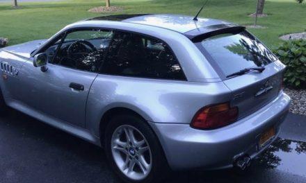 Low Mileage Clown Shoe: 1999 BMW E36/8 Z3 Coupe 47K Miles – SOLD!