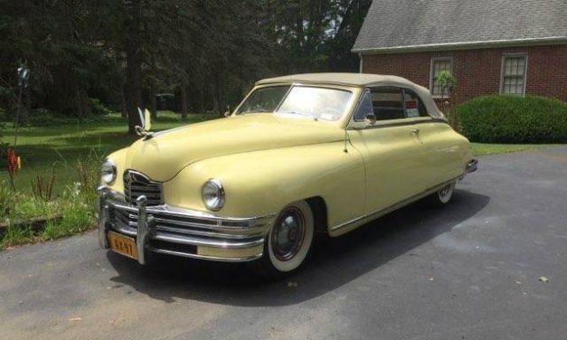 Classic Comorant:  1948 Packard Victoria Convertible – STILL $45,000