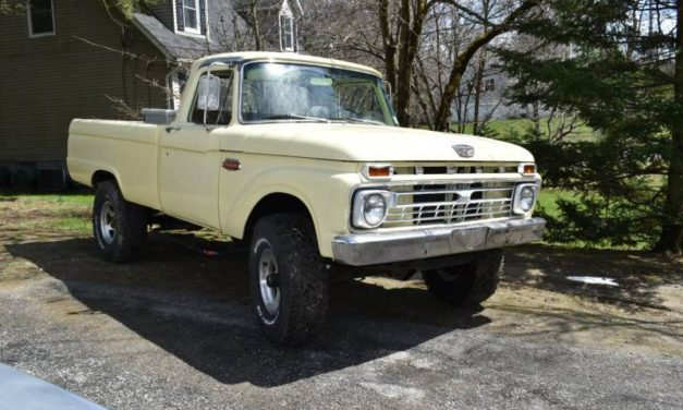 Pale Slick: 1966 Ford F250 Styleside 4×4 Driver – SOLD!