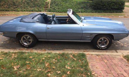 Triple Blue: 1969 Pontiac Firebird Convertible – $27,000