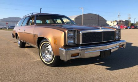 Gold Survivor: 1976 Chevrolet Chevelle Malibu 9 Passenger Station Wagon – $7,999