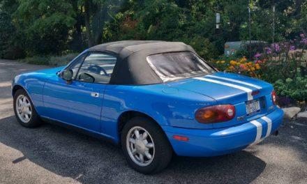 Striped Commuter:  1993 Mazda Miata 195K Mile Survivor – Sold!