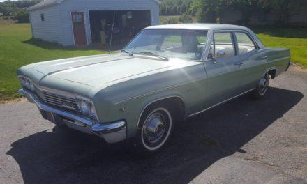 Sedate Sedan: 1966 Chevrolet Impala Four Door 26K mile survivor – $13,500