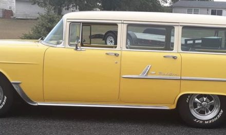 Yellow Hot One: 1955 Chevrolet Bel Air Station Wagon Hot Rod – $16,500