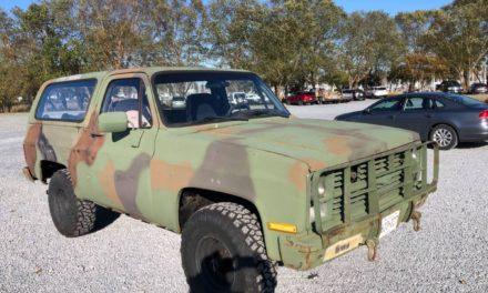 Rusty Camo: 1985 Chevrolet M1009 CUCV K5 Blazer – $3,500