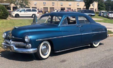 Unleaded Sled:  1950 Mercury Eight Sport Sedan – NOW $16,000