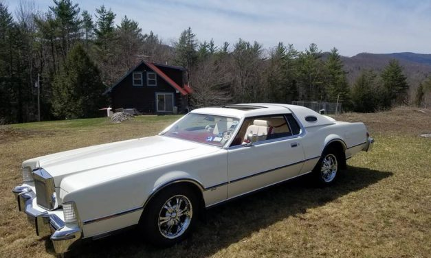 Eight Months Gone:  1975 Lincoln Continental Mark IV Lipstick & White Edition – NOW $12,000