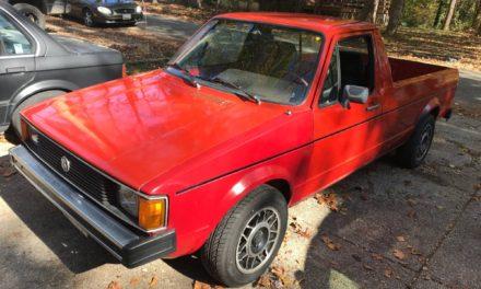 Red Rabbit:  1981 Volkswagen MK1 Rabbit Caddy Pickup – SOLD!