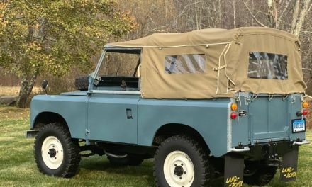 Meticulously Maintained:  Landrover Series IIA 88 Soft Top Gas RHD – $44,000