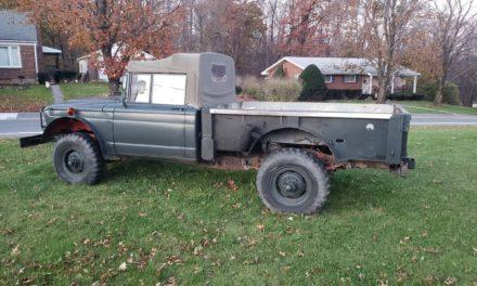 Military Gladiator: 1968 Kaiser Jeep M715 Pickup – $6,200