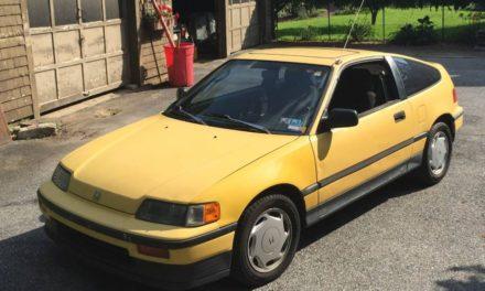Yellow Rex:  1989 Honda CRX SI – $2,200
