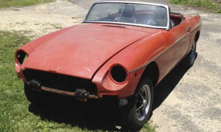 Paint or Polish:  1976 MG MGB Mk IV Roadster Project – $2,500