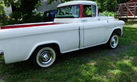 Candy Cane:  1955 Chevrolet Cameo Carrier Pickup – Sold!