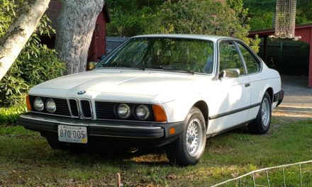 Shark Stick: 1984 BMW E24 633CSi 5-Speed Original Owner – NOW $7,000