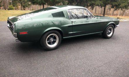 NEW! Award 35:  1968 Ford Mustang Fastback Bullitt Tribute – $45,000