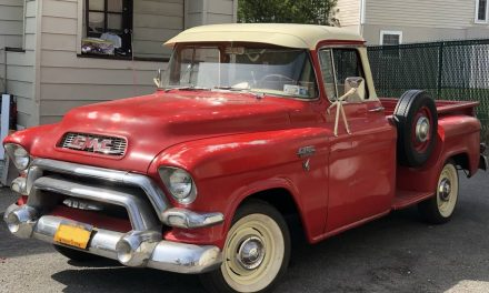 Pontiac Power: 1956 GMC 100 Big Window Stepside Pickup – $19,999 OBO