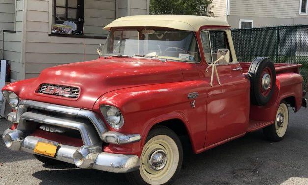 Pontiac Power: 1956 GMC 100 Big Window Stepside Pickup – $19,999 OBO