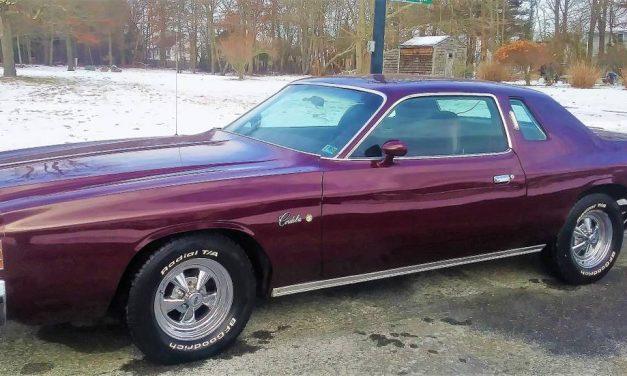 Not Lean Burn:  1975 Chrysler Cordoba Factory Sunroof – $5,200