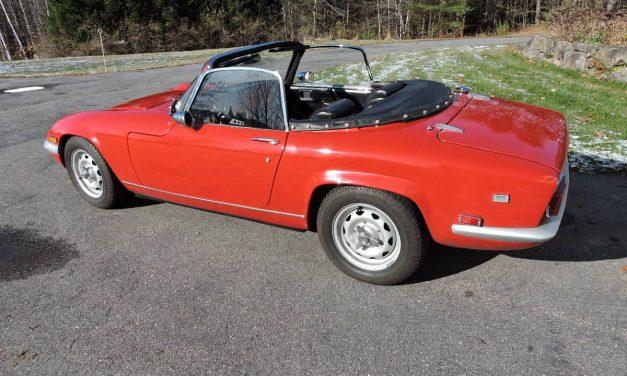 Fixed Frames:  1969 Lotus Elan S4 – $32,000