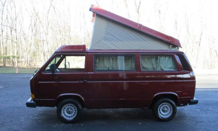 Wine-Colored Westy:  1987 Volkswagen T3 Westfalia Camper – $23,850