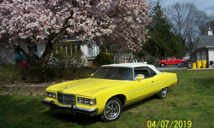 Yellow Yacht:  1975 Pontiac Grand Ville Brougham Convertible – Sold!