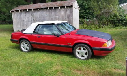 Summer Project: 1990 Ford Mustang LX Convertible Roller – Sold!