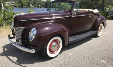 Better Stock: 1940 Ford Deluxe Convertible Club Coupe – NOW $58,000