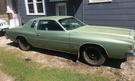 Green Machine:  1977 Chrysler Cordoba 400 Equipped – $3,500
