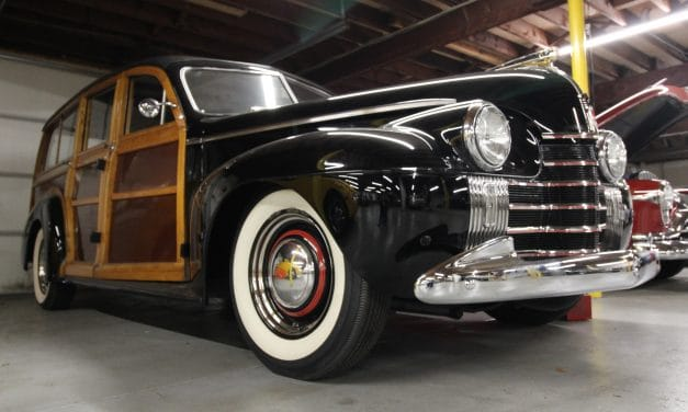 Space 22:  1940 Oldsmobile Dynamic Series 70 Woody Station Wagon – SOLD!