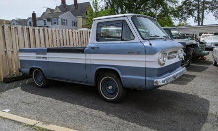 Pretty Darn Good:  1961 Chevrolet Corvair Rampside Pickup – $13,888