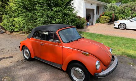 Tempting Tangerine:  1978 Super Beetle Convertible Project: Sold!