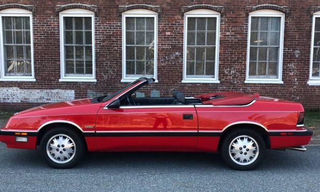 Pristine: 1988 Chrysler LeBaron Turbo Convertible – $5,900