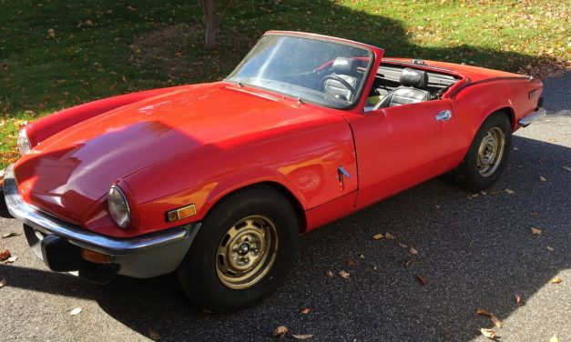 Spreadsheet of Spares:  1976 Triumph Spitfire 1500 Project – $3,000