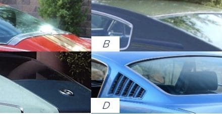 Guess What Ride 24:  Match the '66 Fastback Rooflines