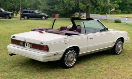 One Owner:  1986 Chrysler LeBaron Turbo Convertible – $4,900