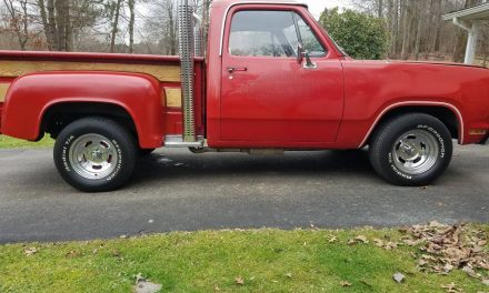 Factory AC:  1979 Dodge Lil' Red Express Pickup – Sold!