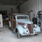 Stored 30 Years:  1936 Ford Model 68 Woody Station Wagon – $32,500